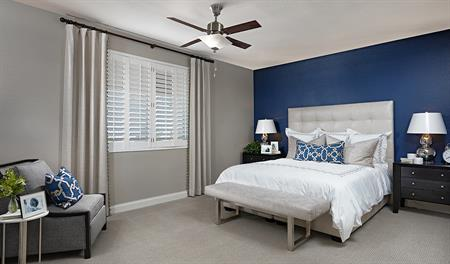 Master bedroom in the Paisley floor plan