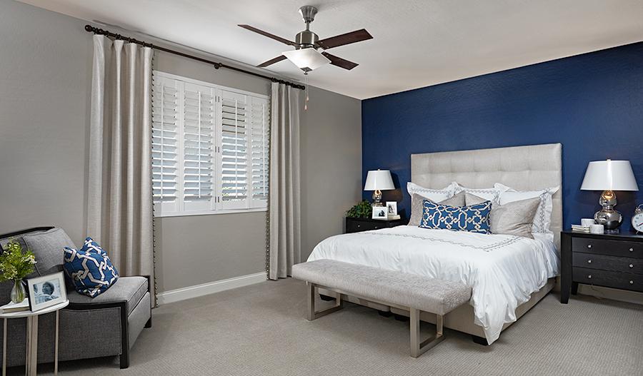 Master bedroom in the Paisley floor plan