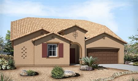 Exterior A of the Paisley floor plan in the Silver Creek community