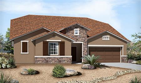 Exterior B of the Paisley floor plan in the Silver Creek community