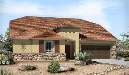 Exterior C of the Paisley floor plan in the Silver Creek community
