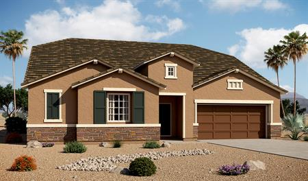 Exterior B of the Paisley floor plan in the Arlington Point community