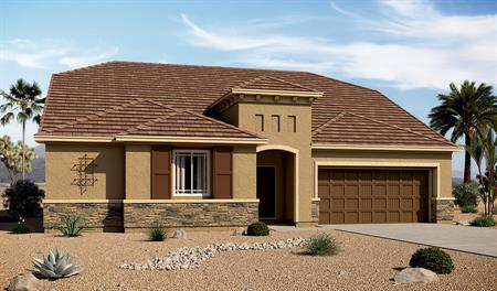 Exterior C of the Paisley floor plan in the Arlington Point community