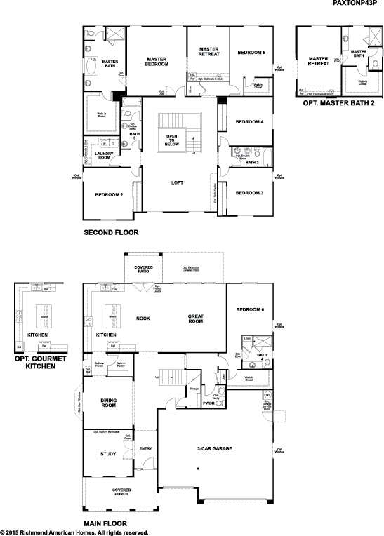 New homes at arroyo norte community in phoenix for Richmond homes ranch floor plans