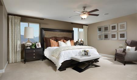 Master bedroom of the Peyton floor plan