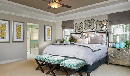 Master bedroom in the Piermont floor plan