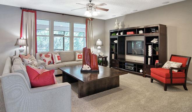Family room the Piermont floor plan