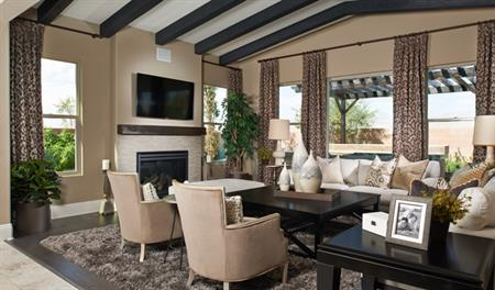 Family room of the Reagan floor plan