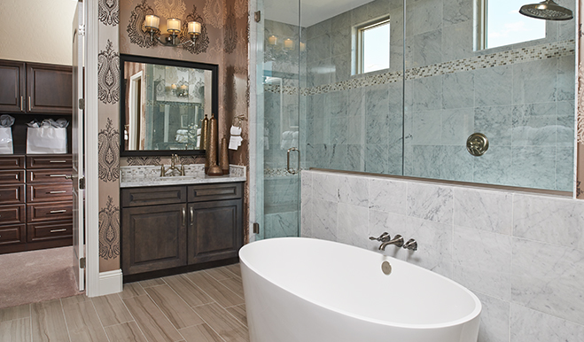 Master bathroom of the Reagan floor plan