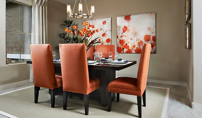 Dining room in the Reece floor plan