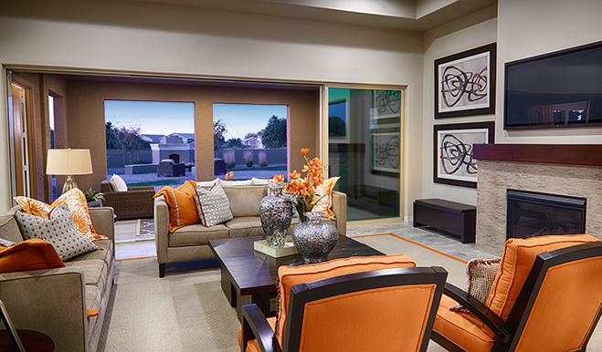 Great room in the Reece floor plan