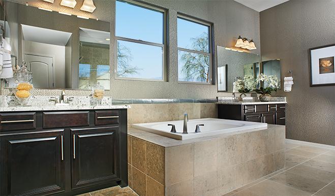 Master bathroom in the Reece floor plan