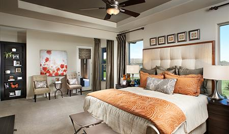 Master bedroom in the Reece floor plan