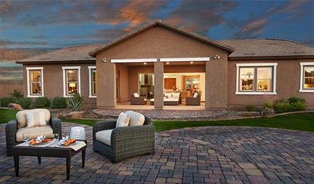 Outdoor patio in the Reece floor plan