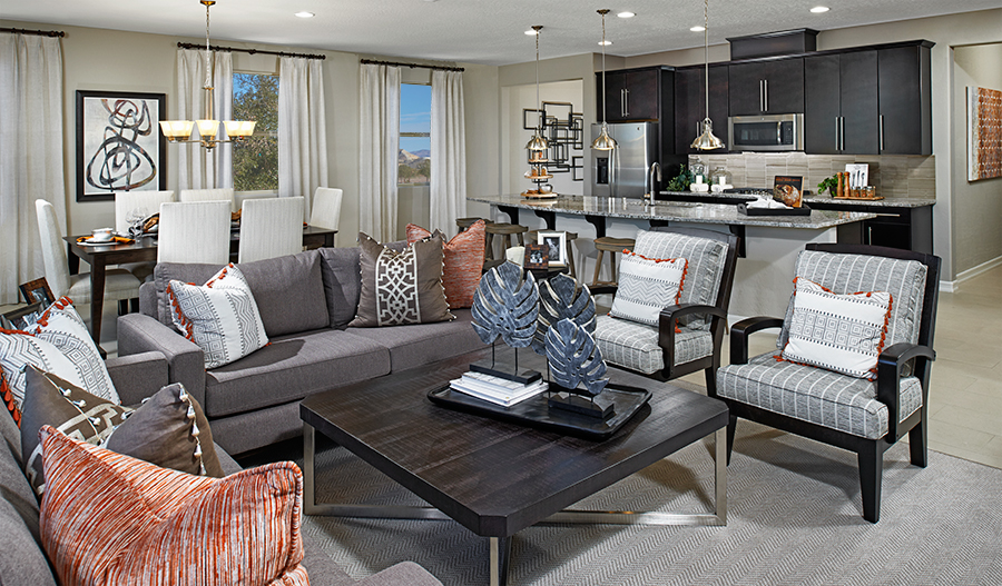Great room in the Rincon floor plan