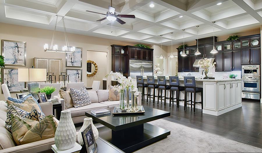 Great room in the Robert floor plan