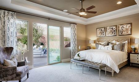 Master bedroom in the Robert floor plan