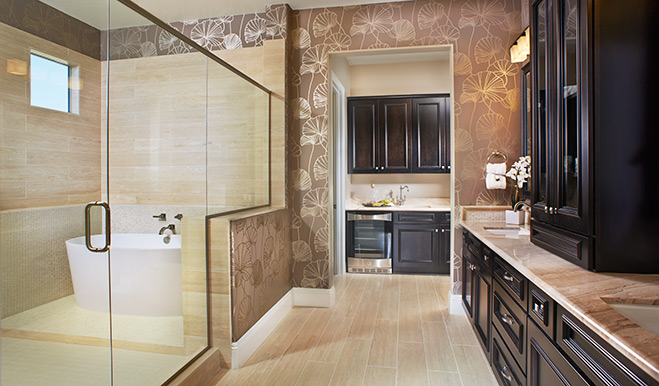 Master bathroom of the Robert floor plan