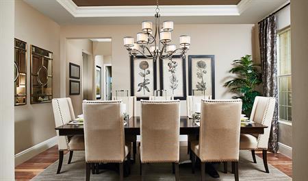 Dining room of the Robert floor plan