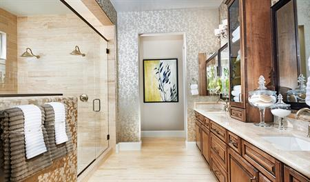Master bathroom of the Robert floor plan