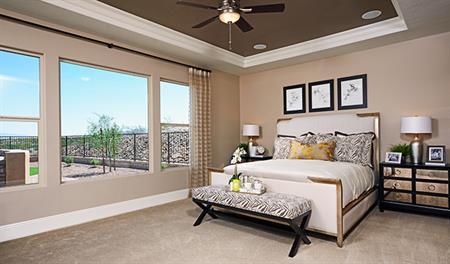 Master bedroom of the Robert floor plan