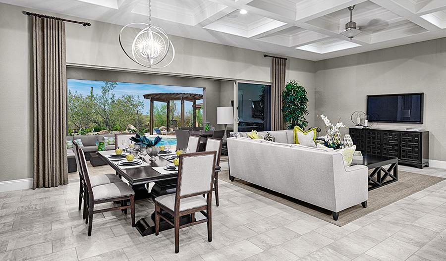 Great room with open patio of the Robert floor plan