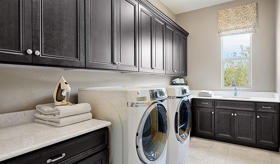 Laundry room in the Robert floor plan