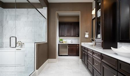 Master bath in the Robert floor plan