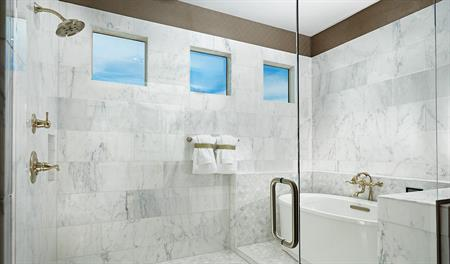 Shower in the master bathroom of the Robert floor plan