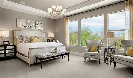 Master bedroom in the Robert floor plan