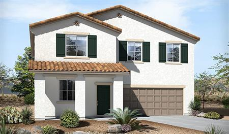 Exterior A of the Sadie floor plan in the Skyline Ridge community