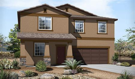 Exterior B of the Sadie floor plan in the Skyline Ridge community