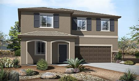 Exterior C of the Sadie floor plan in the Skyline Ridge community