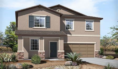 Exterior B of the Sadie floor plan in the River Grove South community