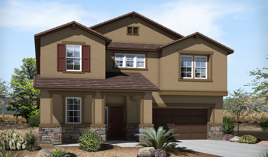 Exterior B of the Sage floor plan in the River Grove South community