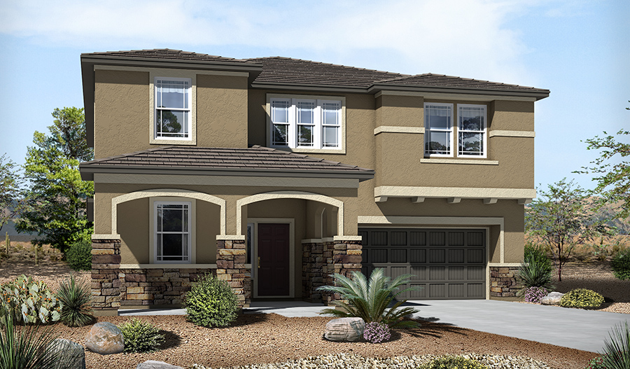 Exterior C of the Sage floor plan in the River Grove South community