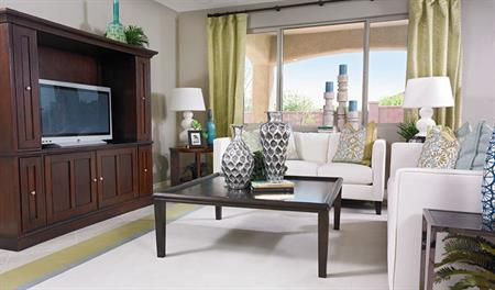 Family room in the Sandra floor plan