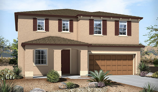 Exterior B of the Sandra floor plan in the Westview Pointe community