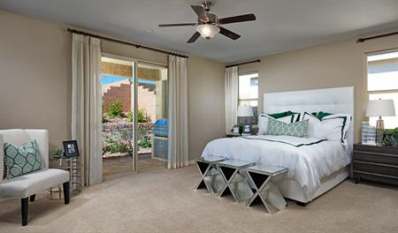 Master bedroom in the Sarah floor plan