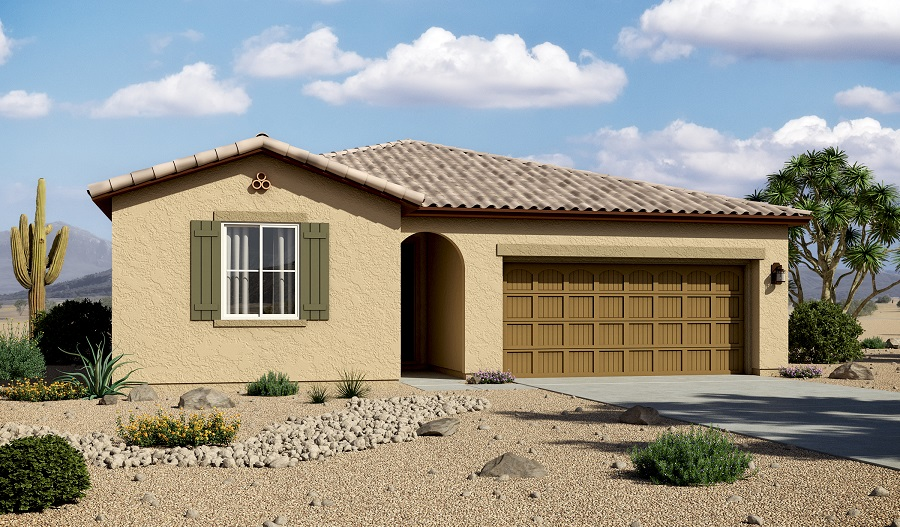 Exterior A of the Sarah floor plan in the Willow Vista community