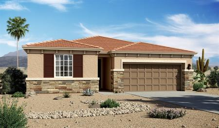 Exterior C of the Sarah floor plan in the Willow Vista community