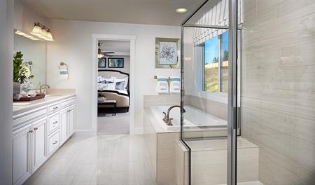 Master bathroom in the Seth floor plan