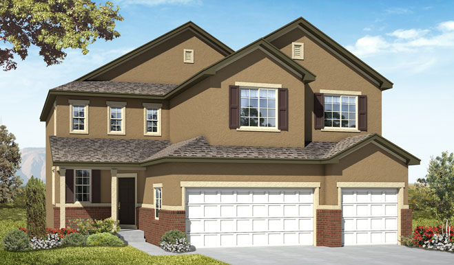 Exterior A of the Seth floor plan in the Fox Hollow community