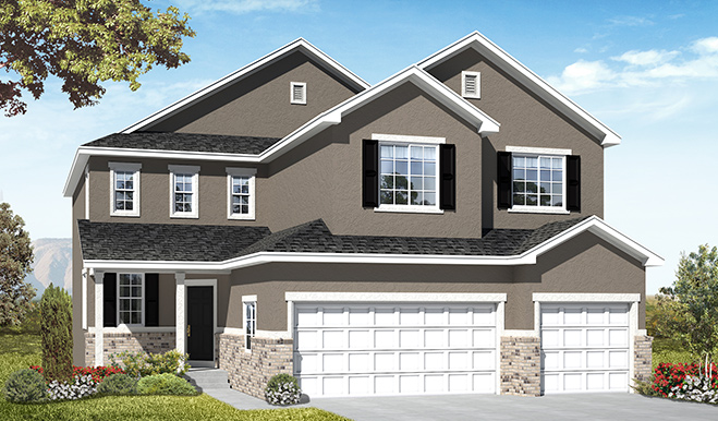 4 Bedroom, 2.5 Bathroom, 3 Car Garage Floor Plans in