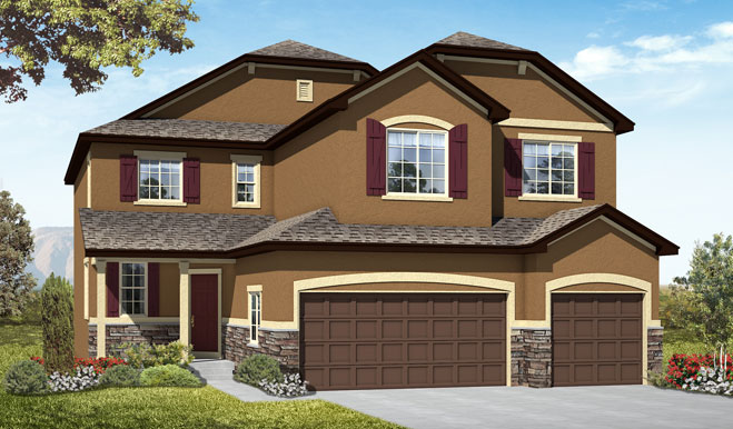 Exterior B of the Seth floor plan in the Fox Hollow community