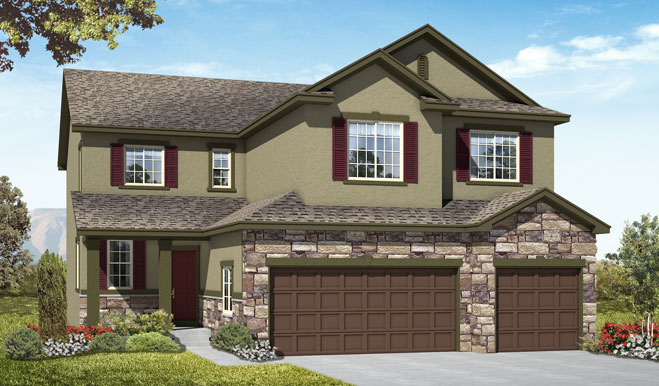 Exterior C of the Seth floor plan in the Fox Hollow community