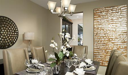 Dining room in the Stacey floor plan