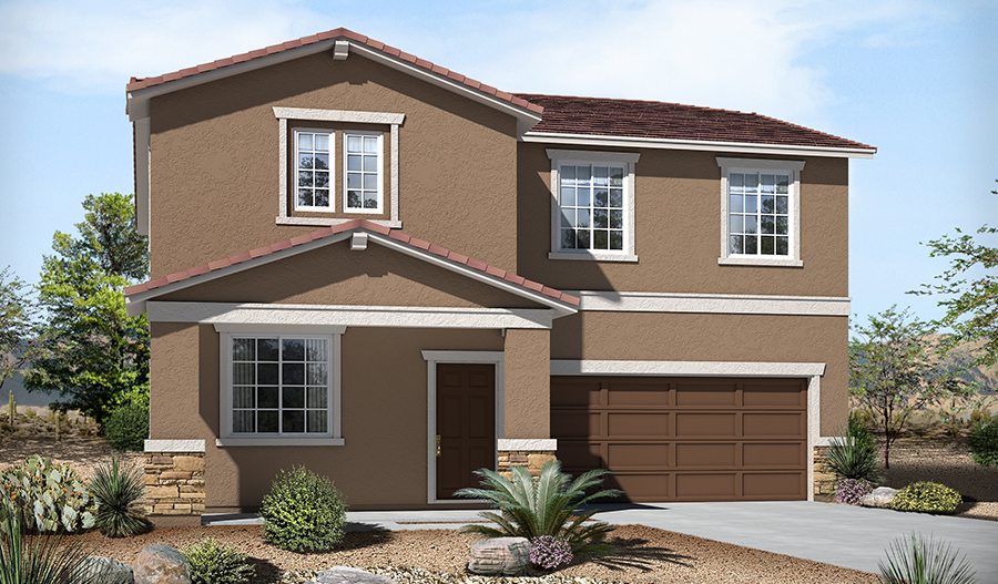 Exterior B of the Stacey floor plan in the River Grove South community