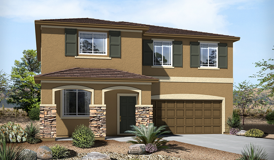 Exterior C of the Stacey floor plan in the River Grove South community