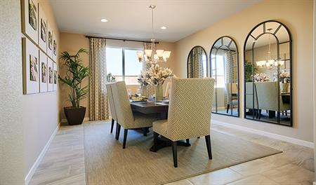 Dining room in the Tate floor plan